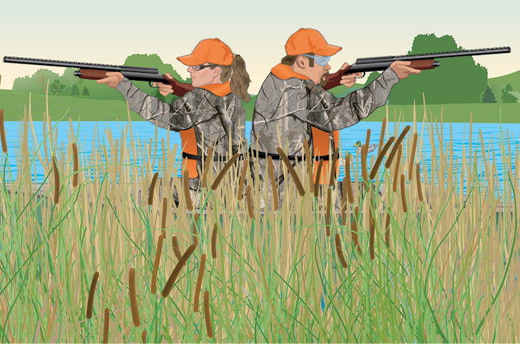 two-Hunters-Are-Duck-Hunting-in-a-Boat-What-Is-The-Safest-Position